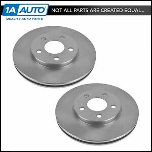 Front Brake Rotor Disc Pair Set of 2 for 00-05 Dodge Plymouth Neon New