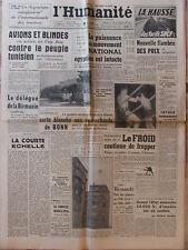 L'Humanité - (29 janv 1952) Flambée prix- Egypte -Tunisie - Procès Int. Traitres