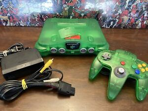 Nintendo 64 Jungle Green Funtastic Console Bundle W/ Controller, Expansion - N64