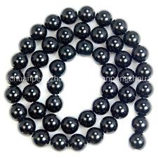 """8mm natural Obsidiana Copo De Nieve cuentas de piedras preciosas redondo Strand 15/"""" AA"""