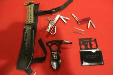 SURVIVAL GEAR KNIFE FISHING TACTICAL MULTI TOOL BACKPACK MILITARY STYLE EDC PACK