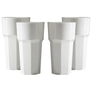 Premium Unbreakable Reusable Polycarbonate Plastic White Octagon shaped 12oz