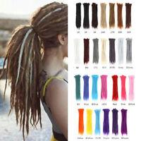 1pc 50cm Braid Dread Natural Textured Dreadlock Hair Extension Hippie Ombre