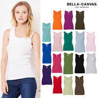Bella + Canvas Baby Rib Ladies Tank Top 1080 - Womens Slim Fit Vest Stretch Top