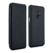 Full protective Samsung Galaxy S9 Real Leather Folio Case - Carbon Opus