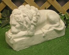 Classical Lying Lion Sentry Latex Fiberglass Production Mold Concrete Plaster