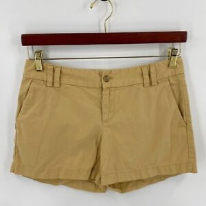 Ann Taylor LOFT Shorts Size 4 Khaki Gold Chinos Cotton Womens