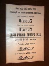Pubblicità d'epoca dei primi del '900 Pirelli Circuito Spa, Strega, Grammofono