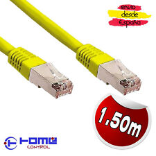 1.50m RJ45 Cable Ethernet Cat5e completamente blindado enganche Plomo Amarillo