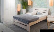 Bett Schlafzimmer Komplett Set Betten mit 2 Nachttische 100x200cm Loft Massiv