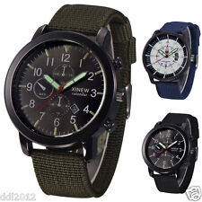 XINEW Men's Nylon Strap Luxury Dial Waterproof Military Sport Wrist Watches AU