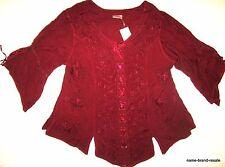 HOLY CLOTHING NWT Womens PLUS 3X Burgundy Boho Gypsy Gothic Romantic Renaissance