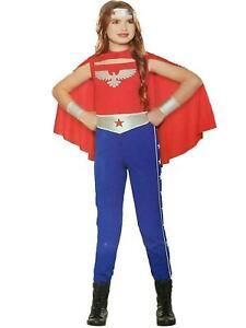 American Hero Cutie Costume Girl Size Small (4-6) Theater Halloween Dress Up