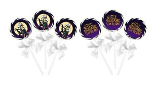 24 The Nightmare Before Christmas Baby Shower Lollipop Stickers, 12 of each!