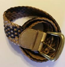 MARCIANO By Guess Women's Braided Leather Belt Gold/Tan Size X-Small