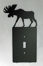 MOOSE Single Light Switch Plate Cover Wildlife Rustic Cabin Lodge Metal Art
