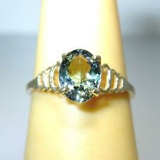 Gorgeous Natural Flawless 1.06ct Green TANZANITE Solitaire 14K Gold Ring sz 6.25