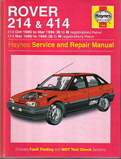 Rover 214 414 1989 1996 G N Registration Petrol Haynes Service Repair Manual