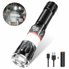 LED COB Taschenlampe Polizei Cree Zoom USB Aufladbar Camping Licht + 18650 Akku