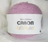 CARON COTTON CAKES YARN by Yarnspirations ~ NEW ~ Mauve (discontinued color)