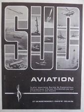 1/1968 PUB SUD AVIATION CONCORDE AIRBUS PUMA ALOUETTE FRELON LAMA FRENCH AD