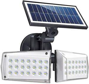 Solar Motion Sensor Light Outdoor 42 LED Flood Lights  Adjustable Solar Wall