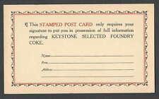 Ca 1939 PC GREENSBURG PA KEYSTONE  COAL & COKE RE INFO, UNPOSTED