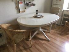 IKEA runder Küchentisch/Esstisch ausziehbar weiß Tisch Liatorp Landhaus Ingatorp