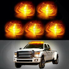 5X Roof Light 264142BK Cab Marker Clear Cover+5X Free Bulb for Ford F-450 E-550