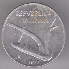 ITALIA 10 LIRE Moneta in alluminio 1977-ARATRO