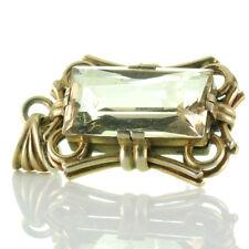Large Art Deco Pendant Silver 800 Gold Plated & Smoky Quartz Ca. 26.07 Ct,um