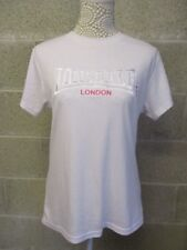 "Lonsdale ladies top. Size 16. White with pink  embroidery. "" Lonsdale London"""
