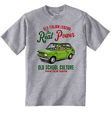 VINTAGE ITALIAN CAR FIAT 126 1 - NEW COTTON T-SHIRT