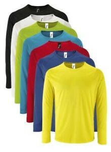 Sols Sporty Manches Longues Performance Respirant Polyester T-Shirt