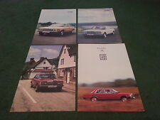 1978 1979 MERCEDES BENZ 200D 240D 300D SALOON W123 UK 38pg BROCHURE + 3x FOLDERS