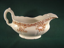 Vintage John Maddock & Sons of England Gravy Boat - Louis XIV - White w/Floral