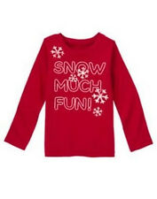 NWT GYMBOREE PENGUIN CHALET LS SHIRT SIZE 4 SNOW MUCH FUN SNOWFLAKES GIRLS