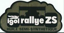 Autocollant sticker sport automobile racing car IGOL rallye ZS HUILE or