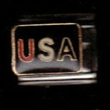 USA RED,WHITE,BLUE  WHOLESALE ITALIAN CHARM IN 9MM LOT#14