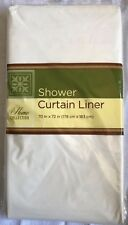 "White Color Standard 70"" X 72"" Waterproof Plastic Shower Curtain Magnetic Liner"