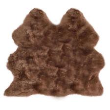 très doux de luxe vrai qualité Tapis peau de mouton cachette Fourrure Brun Beige