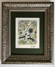 MARC CHAGALL ORIGINAL 1985 BEAUTIFUL SIGNED HAND NUMBERED  PRINT MATTED 11 X 14