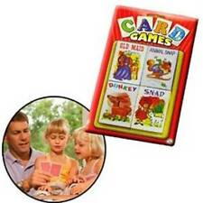 4pc Vintage Early Learning Snap Old Maid Playing Cards Game For Kid Children,NEW