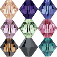 Wholesale 50/100Pcs Faceted Glass Crystal Loose Bicone Spacer Charms Bead 6mm