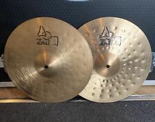 "More details for paiste alpha 14"" power hi hat cymbals #623"
