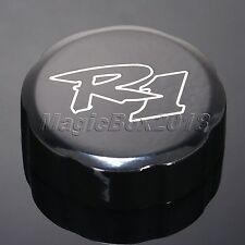 For Yamaha YZF R1 1998-2012 2009 Black Motorcycle Brake Fluid Reservoir oil Cap