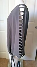 NEW!Coco Bianco Dolman Batwing Olive Green 3/4 Sleeve Strappy sleeve Blouse,sz S
