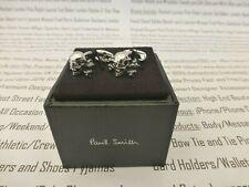 PAUL SMITH Cufflink Mens Silver Skull & Crossbones Branded Cufflinks BNIB R£85