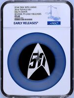 2016 Star Trek The Original Series 50th Ann 1oz Silver Proof DELTA Coin NGC PF69