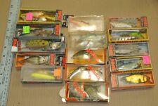 Lot Of 24 Fishing Lures VINTAGE USED Rapala, Rebel, Bagley's, Rattl'n Rap